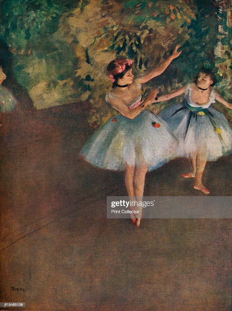 'Two Ballet Dancers On The Stage (Deux Danseuses Sur La Scene)', 1874 (1946) : News Photo