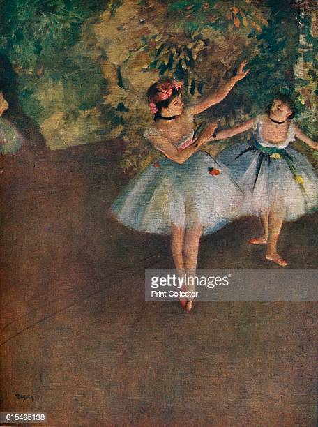 Two Ballet Dancers on the Stage ' 1874 The painting is held by the Courtauld Gallery London From The Connoisseur Vol 117 edited by H Granville Fell...