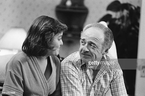 ST ELSEWHERE Two Balls and a Strike Episode 3 Pictured Dana Short as Elizabeth LIzzie Westphall Ed Flanders as Dr Donald Westphall Photo by Jack...