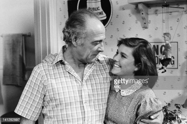 ST ELSEWHERE Two Balls and a Strike Episode 3 Pictured Ed Flanders as Dr Donald Westphall Dana Short as Elizabeth LIzzie Westphall Photo by Jack...