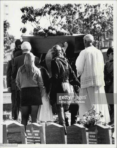 Two bandido's were given a funeral at Rockwood Cemetary. September 7, 1984. .
