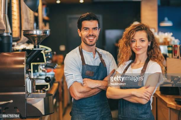 Two baristas