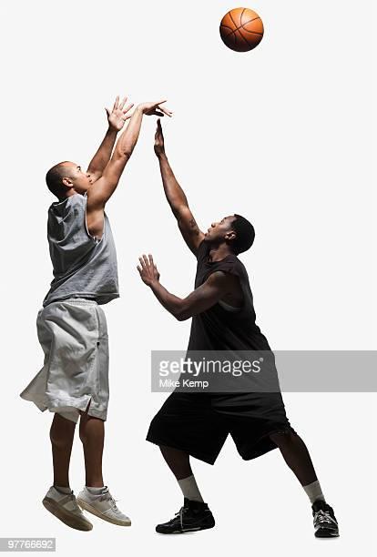 Two basketball players