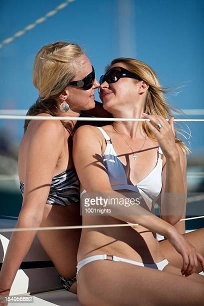 Two beautiful blonde women