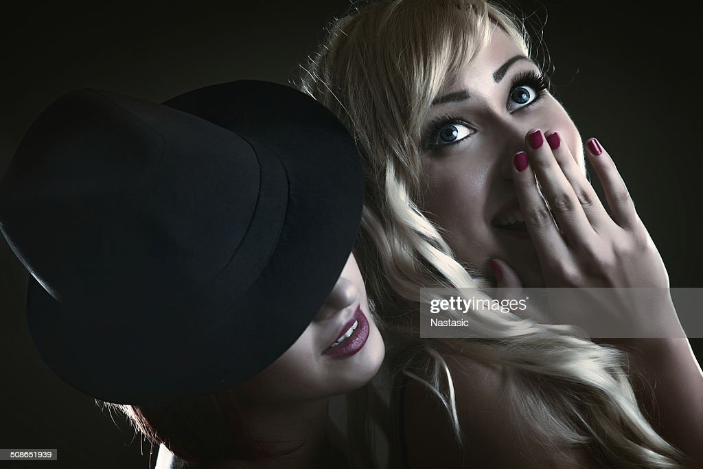 Two beautiful girls being intimate : Stock Photo