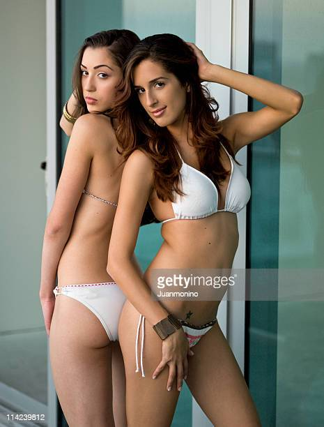 Two beautiful hispanic models