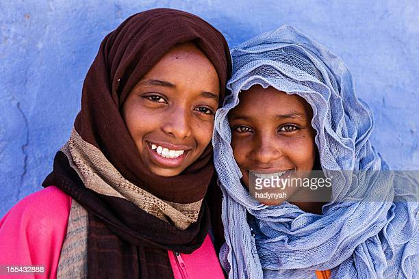 Two beautiful Muslim girls in Southern Egypt