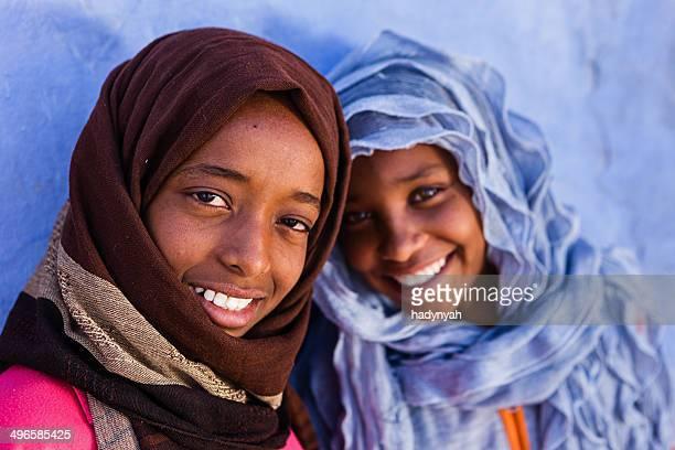 Two beautiful Muslim girls in Southern Egypt