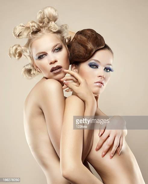 Two beautiful naked women