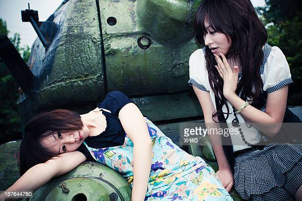 two beauty asian girls
