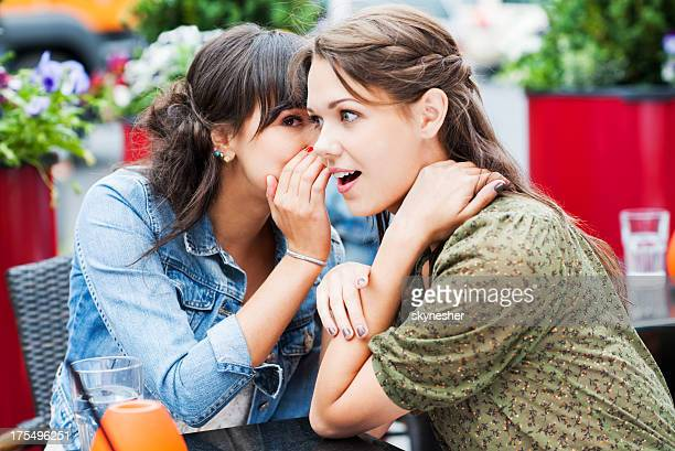 two best friends sitting in a cafe and gossiping, - private stock pictures, royalty-free photos & images