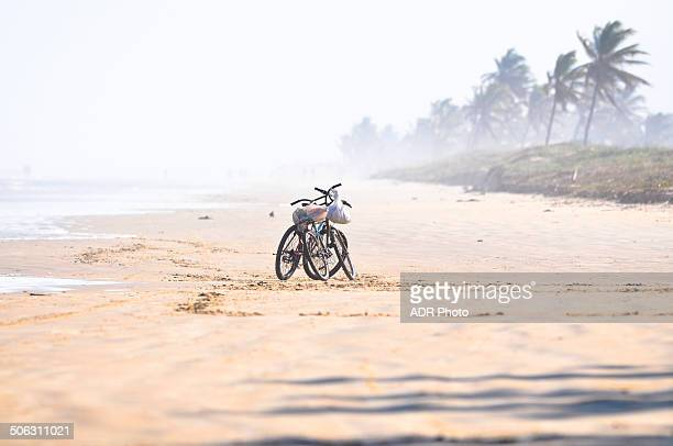 Two bicycles and beach