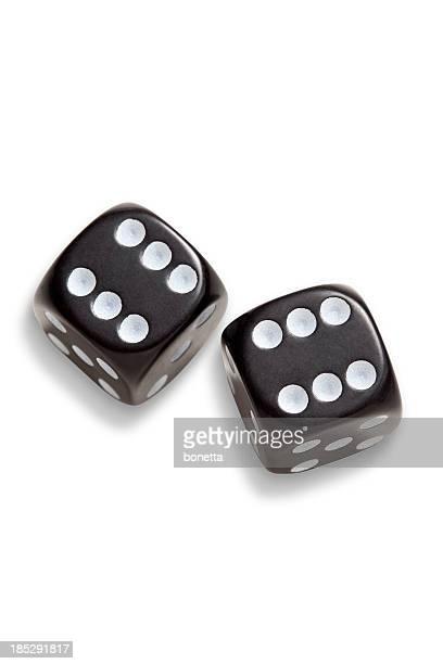 Zwei schwarze dices