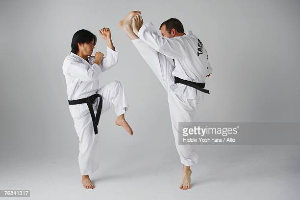 Two Blackbelts Sparring