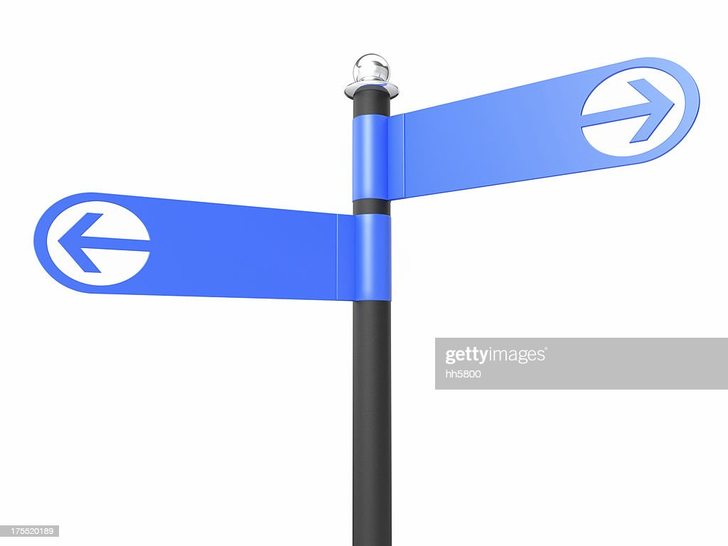 Two Blank Road Signs : Stock Photo