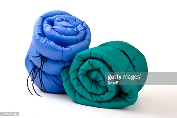 Two blankets in blue and green for outdoor events