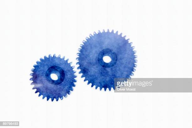 Two blue cogs