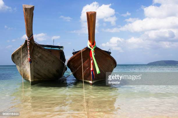 two boat part at the sea - ibnjaafar stock photos and pictures