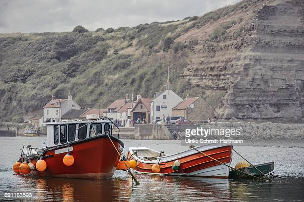 Two boats in a habour
