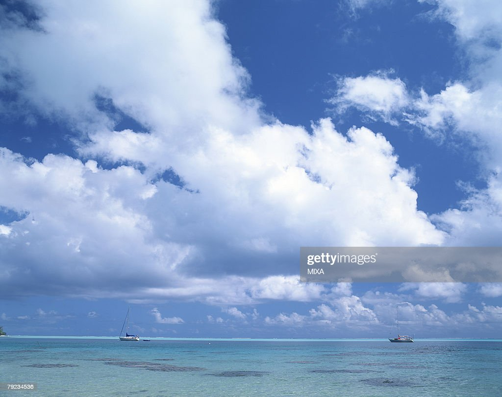 Two boats in sea : Stock Photo