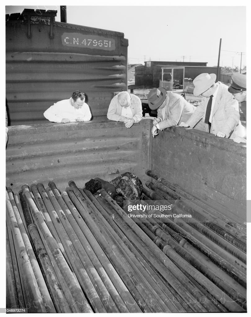 Two Bodies Found In Freight Car 20 December 1951