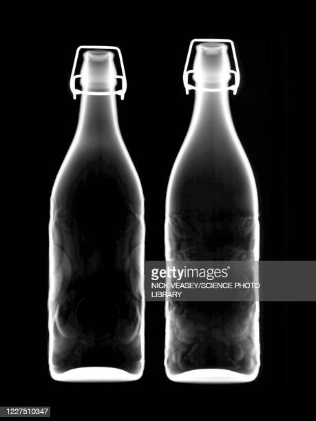 two bottles of beer, x-ray - x ray image stock pictures, royalty-free photos & images