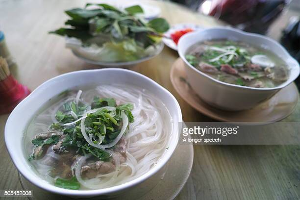 Two bowl of Pho soup