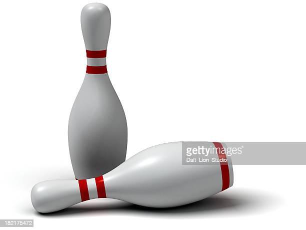 Zwei Kegeln bowling