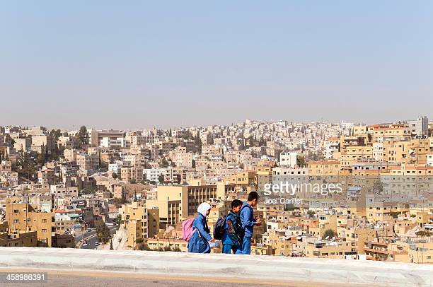 school children in amman, jordan - jordan middle east stock pictures, royalty-free photos & images