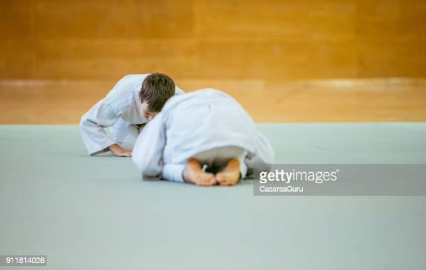 Two Boys During Judo Practicing