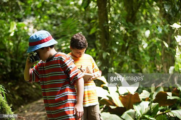 Two Boys on Excursion in Wilderness Area
