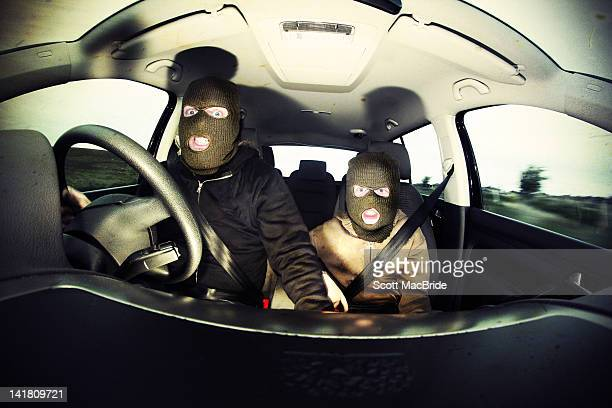 two boys wearing balaclavas - scott macbride stock pictures, royalty-free photos & images