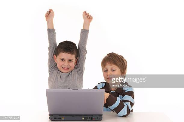 two boys with notebook series - winning