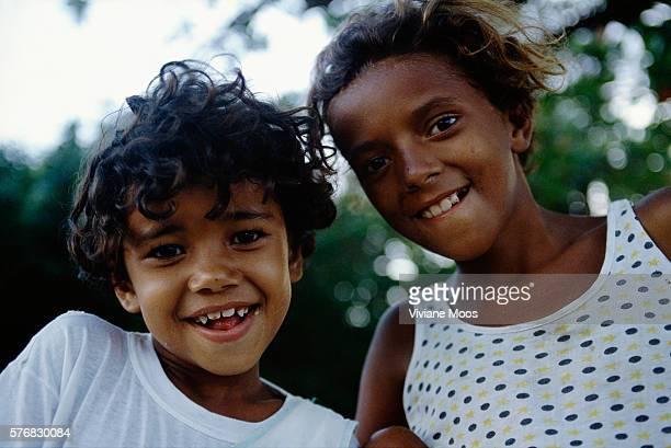Two Brazilian Children Smile