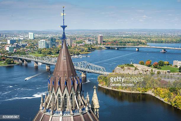 """two bridges over the ottawa river - """"danielle donders"""" stock pictures, royalty-free photos & images"""