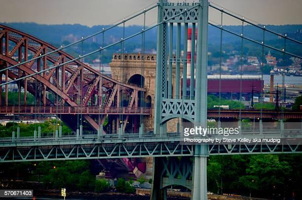 two bridges - east harlem - fotografias e filmes do acervo