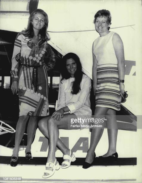 Two British air hostesses arrived in Sydney today from a 14 day round Australia tour as part of a 'Travel to Europe '72' promotion accompanied by...