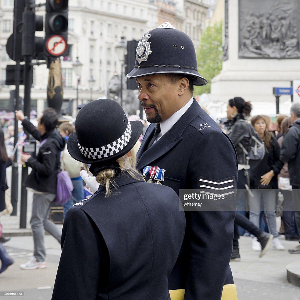 Two British bobbies : Stock Photo