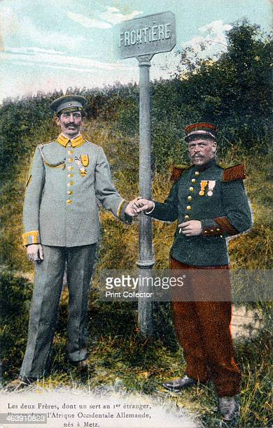 Two brothers at the French/German frontier 20th century Two brothers born in Metz who served on opposite sides in the First World War The man on the...