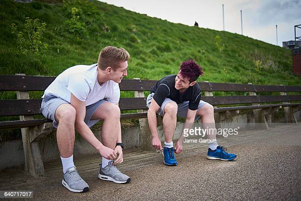 Two Brothers preparing to go running