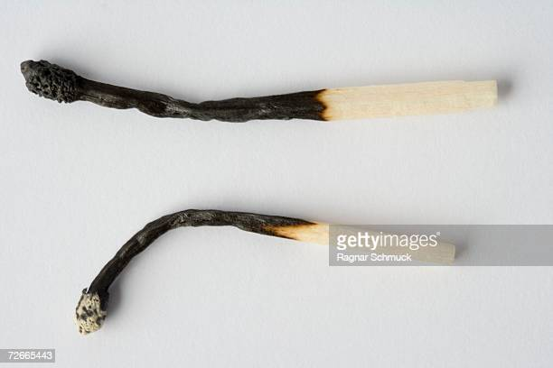 Two burnt matches