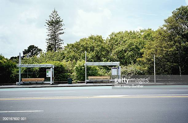 Two bus stop stands