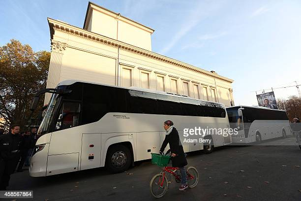 Two buses full of activists traveling from Berlin to the Mediterranean to 'Tear down the European Wall' or cut down portions of the European Union's...