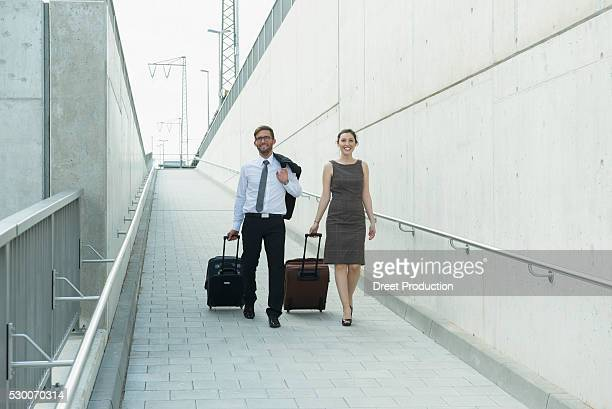 Two business partners on travel