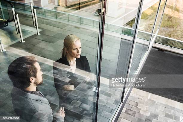 Two Business Person In Coorporate Building
