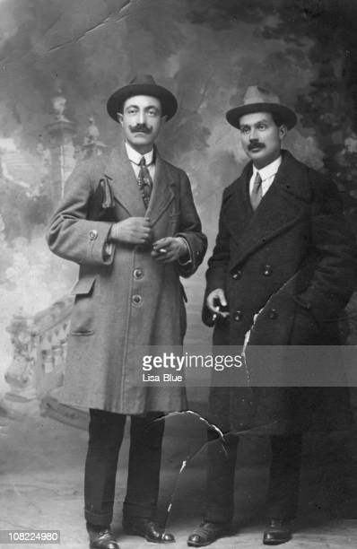 two businessmen from 1917.black and white - 20th century stock pictures, royalty-free photos & images