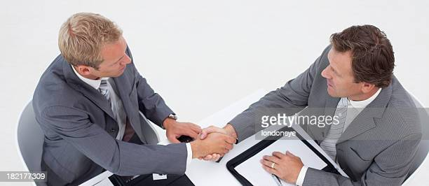 Two Businessmen Having Meeting