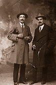 Two Businessmen in 1917.Sepia Toned.
