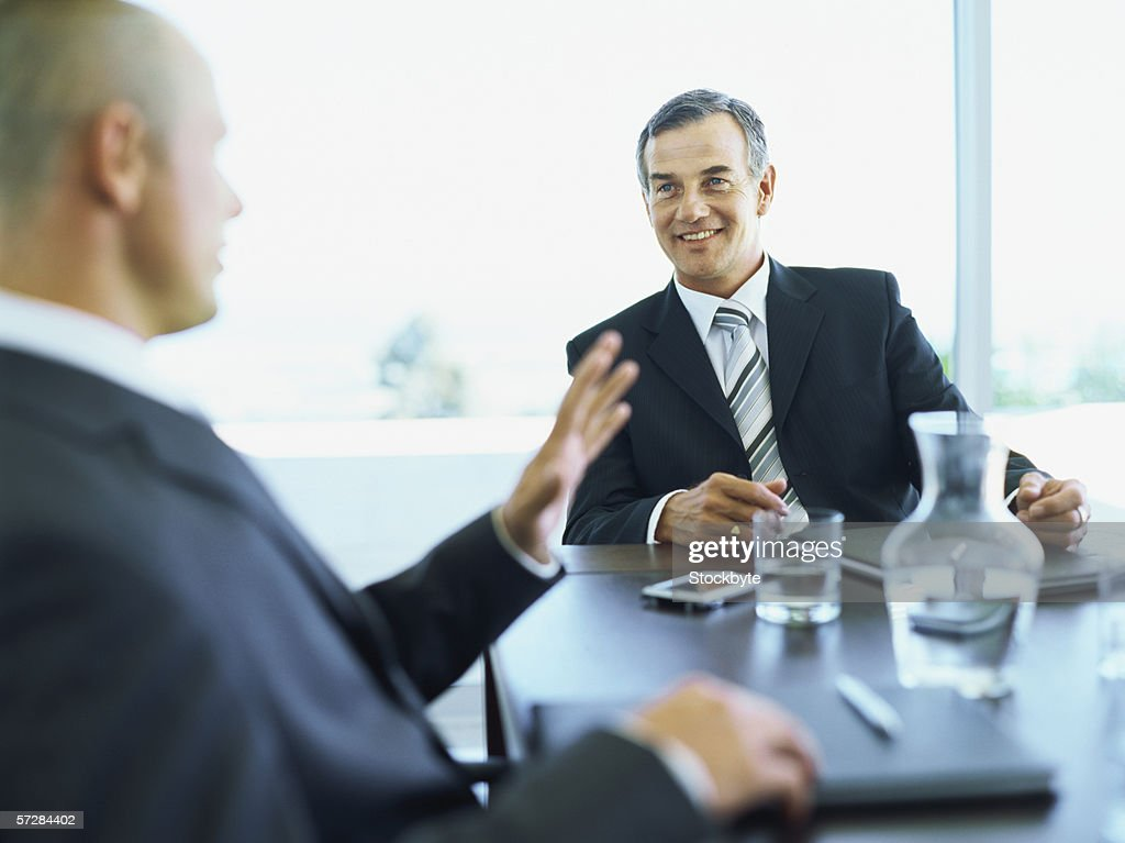 Two businessmen in a meeting : Stock Photo