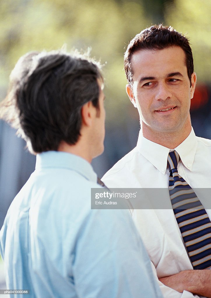 Two businessmen outside : Stockfoto
